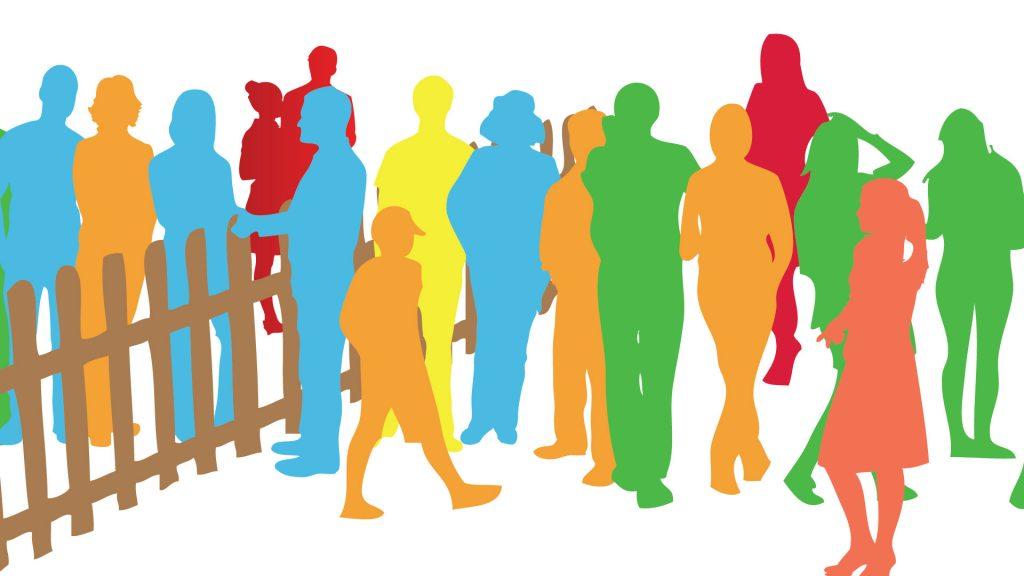 Lebendige Nachbarschaft (LeNa) Zeichnen menschengruppen